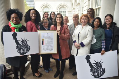 women's suffrage group shot
