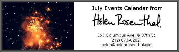 July Events Calendar Header