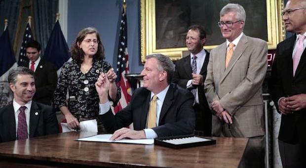 The Mayor Signs Helen's DRIE Bill