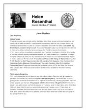 Helen's June Update