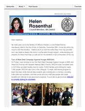 News from Helen - mid-December newsletter