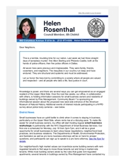 July 2016 News from Helen