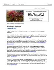 Events Calendar December 2015