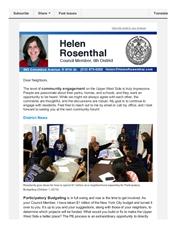 News from Helen - October 2015
