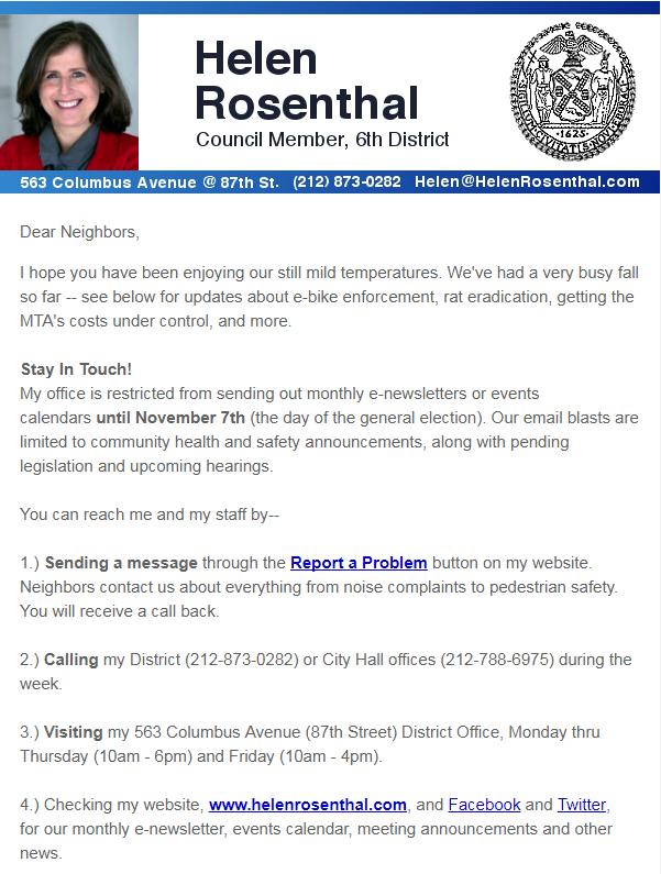 October News from Helen
