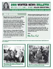 Printed Newsletter Spring 2016