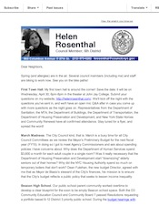 Update from Helen April 2014