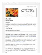 May 2014 Events Calendar