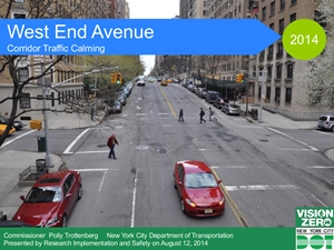 August 12, 2014 DOT plan for West End Avenue