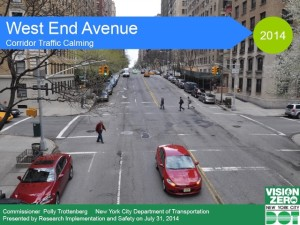 Department of Transportation Plan for West End Avenue