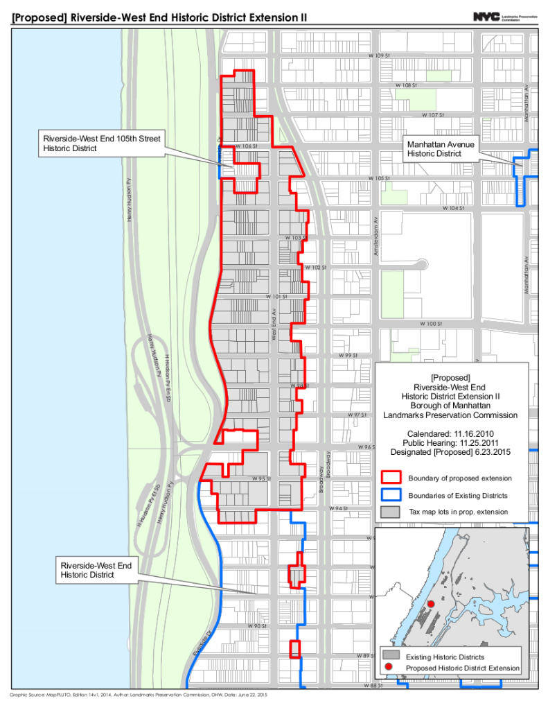 Map of the Expanded Riverside-West End Historic District