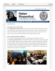News from Helen - October 24, 2014