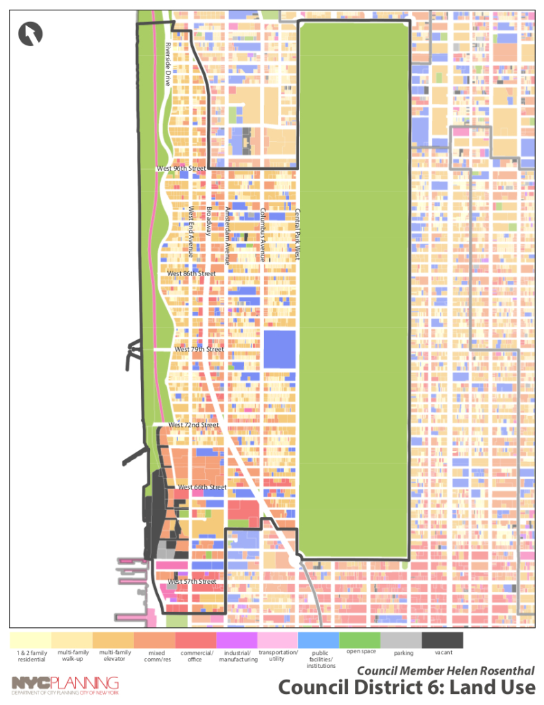 Land Use Map of the Upper West Side (City Council District 6)