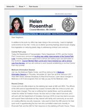 News from Helen - November 18, 2014