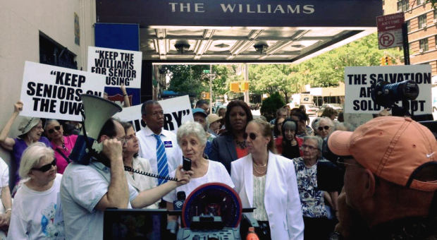 Williams Rally - seniors facing displacement from the Salvation Army