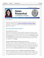 News from Helen, January 2015