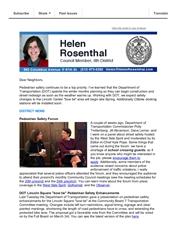 News from Helen - February 2015