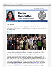 News from Helen from mid-August