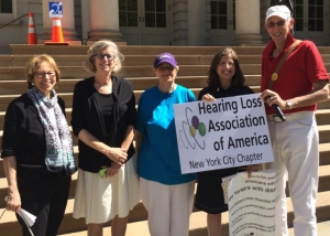 Helen and members of the Hearing Loss Association of America