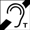 Hearing Symbol with T-Coil