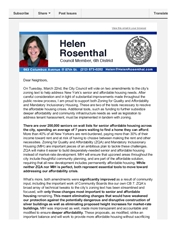 Statement about the Mayor's two zoning plans
