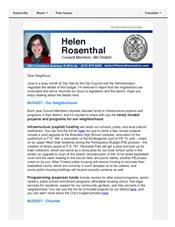 News from Helen, mid-June