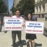 Helen and her Legislative Intern Andrew Bandini Participate in the Stand for Tenant Safety Victory Rally (08/09/17)